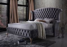 The Palace Collection is crafted by Generation Trade and gets its name because you will feel like royalty every night! Elegant and grandiose to the maximum, the Acme Furniture, Dream Furniture, Bedroom Furniture, Furniture Design, Chesterfield, French Inspired Bedroom, Online Furniture Stores, Bedroom Sets, Master Bedroom