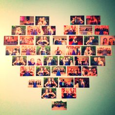 A cute way to hang pictures up in your room