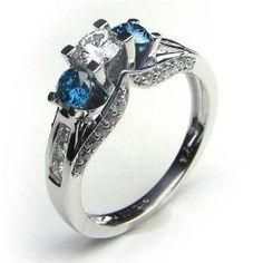 Blue diamond engagement ring...beautiful