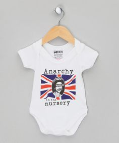 Nippaz with Attitude. White 'Anarchy in the Nursery' Bodysuit