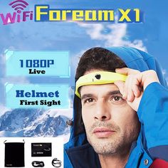 Foream X1 Action Sport Camera Helmet Mount WIFI HD 1080P with Battery waterproof camera deportiva Video Camcorder Broadcasting-in Sports  Action Video Cameras from Consumer Electronics on Aliexpress.com | Alibaba Group
