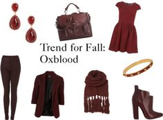 """Trend for Fall: Oxblood"" by thestylebarn on Polyvore"
