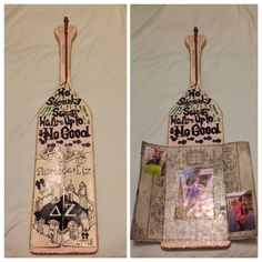 Harry Potter Marauder's Map Delta Zeta Sorority Paddle