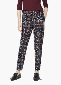 Combi print trousers - Trousers for Woman | MANGO
