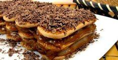Lasanha de Chocolate Econômica Chocolates, Coco, Tiramisu, Pancakes, Breakfast, Ethnic Recipes, Sweet, Nutella, 1