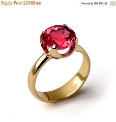 Christmas SALE – CUP Ruby Engagement Ring, Gold Ruby Ring, Ruby Promise Ring, Large Ruby Ring, Gold Statement Ring, Ruby Solitaire Ring