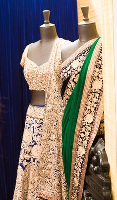 Manish Malhotra at Vogue Wedding Show 2014 the blue one Saris, Indian Dresses, Indian Outfits, Indian Clothes, India Fashion, Asian Fashion, Bridal Outfits, Bridal Dresses, Engagement Outfits