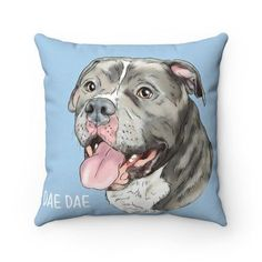Pets Home bulldog dog portrait throw pillow, custom dog illustration, pet home decor for a dog lover. Custom Dog Portraits, Pet Portraits, Cat Lover Gifts, Cat Lovers, Cat And Dog Drawing, Animal Magazines, Custom Dog Beds, Pet Loss Gifts, Pet Gifts