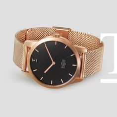 Our most popular model so far. The brushed rose gold mesh watch. For men and women