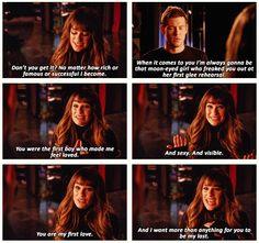 Glee Rachel Berry and Finn Hudson Glee Quotes, Tv Show Quotes, Movie Quotes, Glee Memes, Rachel And Finn, Lea And Cory, Finn Hudson, Glee Club, Bae