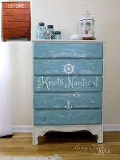 Nautical Chest - Before and After - artsychicksrule