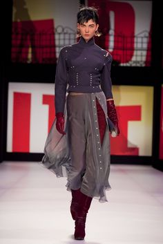 A look from the Jean Paul Gaultier Fall 2013 RTW collection.