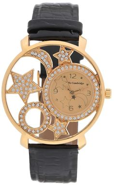Mashreqworld : De Cambridge Unisex Dress Watch Black Leather Strap price, review and buy in UAE, Dubai, Abu Dhabi | Souq.com