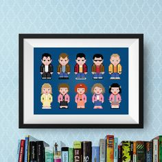 Grease Modern Cross Stitch Pattern  T-Birds and Pink Ladies
