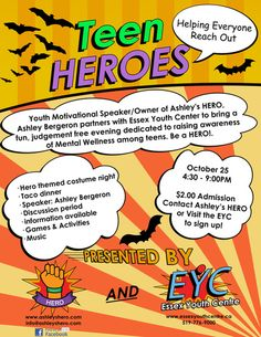 Teen HEROS event I hosted
