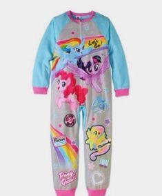 Size 4-5 Years Kids Girls Fleece Character Onesie Pyjamas Pjs Size  Trolls