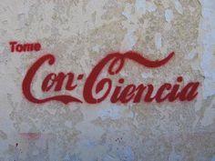 Ideas y Pensamientos Odile Fernandez, Coca Cola, Stencils, Stencil Art, Street Quotes, Street Art Banksy, Flying Together, Bansky, Red Aesthetic