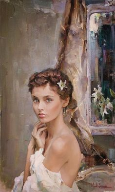 Michael and Inessa Garmash, Husband and Wife Team, Romantic Impressionists. Dawn when she was starting out a professional ballerina