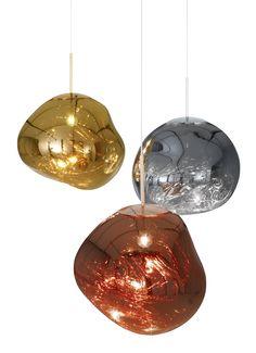 #tomdixon #meltpendant in Copper, Stainless Steel, Brass #pendantlights