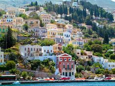 """""""Classically proportioned houses in bright ice cream colours"""" #Symi Island, #Greece"""