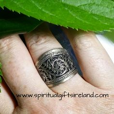 Spiral Mandala Band Ring Adjustable Size