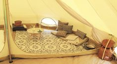 Quick pitch rugged bell tent with a sewn in groundsheet in our most popular size fits a queen bed with a luxurious Camping Pod, Camping Stuff, Canvas Bell Tent, Tree Tent, Tent Awning, Tent Pegs, Tent Decorations, Floor Space, Queen Beds