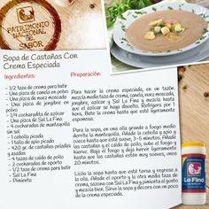 sopa de castañas con crema especiada