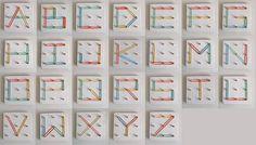 Des lettres avec des élastiques | La cabane à idées
