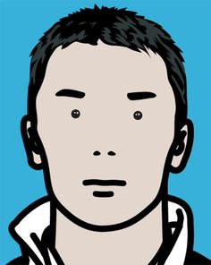 Julian Opie, Takuma Racing Driver, 2004contemporary-art-blog