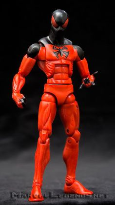 this is the Hasbro Marvel Legends Rocket Raccoon Series kaine Scarlet Spider-man he is a essential addition to your spiderman collection happy pinning