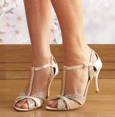 Scarlett cream t-bar dance shoe