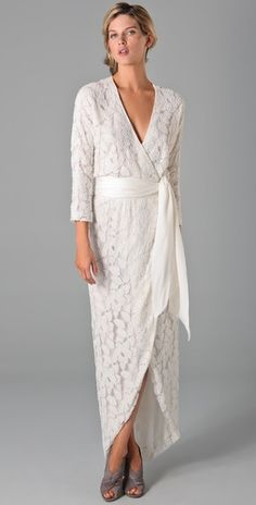 Perfect dress for an second wedding, older bride, or renewal of vows.