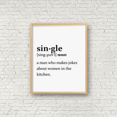 "Single definition wall art print - a little humour to brighten your day!  This listing is for a DIGITAL FILE of this artwork. No physical item will be sent. You can print the file at home, at a local print shop or using an online service.  FILE INCLUDED  • 1 high-resolution (300 dpi) PNG of the artwork for printing 8""x10""  Ask me about customized versions of this print!  INSTANT DOWNLOAD – 3 EASY STEPS  • Purchase this listing. • Once payment is confirmed, you will be taken to the download…"