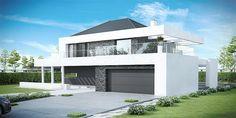 Projekt domu HomeKONCEPT 37 by HomeKONCEPT Duplex House Plans, Bedroom House Plans, Industrial Home Design, Industrial House, House Architecture Styles, Modern Architecture, Modern Exterior, Exterior Design, Morden House