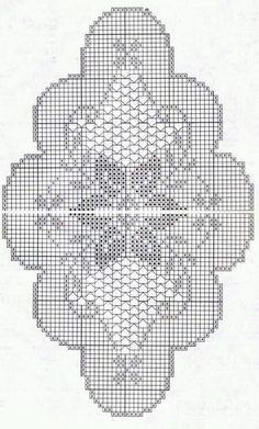 Graphiques au crochet variés - picture for you Crochet Table Runner Pattern, Free Crochet Doily Patterns, Crochet Doily Diagram, Filet Crochet Charts, Crochet Tablecloth, Crochet Motif, Crochet Designs, Hand Crochet, Thread Crochet