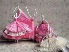 Поделка балерина своими руками из салфеток