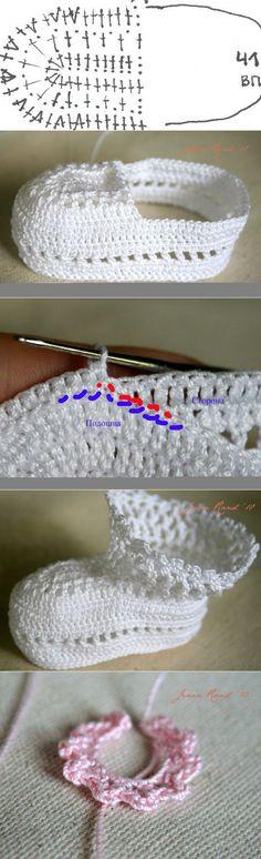 Пинетки с розочкой крючком… Baby Slippers, Crochet Slippers, Diy Crochet, Crochet Hats, Crochet Baby Sandals, Yarn Crafts, Crochet Patterns, Bows, Knitting