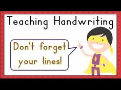 Using three-lined paper makes it easier for students to know where to start and end their letters. Handwriting Lines, Teaching Handwriting, Handwriting Analysis, Handwriting Worksheets, Handwriting Practice, Tracing Letters, Preschool Letters, Preschool Worksheets, Alphabet Letters