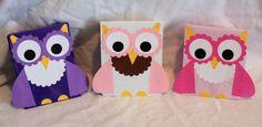 10 Handmade Owl kids Birthday Party Favors Treat Goody Loot Gift Bags
