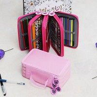 Wish   1 Pc High Capacity Pen Pencil Case Box Stationary School Supplies Pen Pouch Bag Makeup Bags Cases Storage Bag