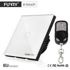 18.69$  Buy here - http://ali0yp.shopchina.info/go.php?t=32807008973 - FUNRY EU Standard 1 Gang Remote Switch, Smart Control On-off for Smart Home, Smart Wall Switch,Smart Lamp Switch 18.69$ #buymethat