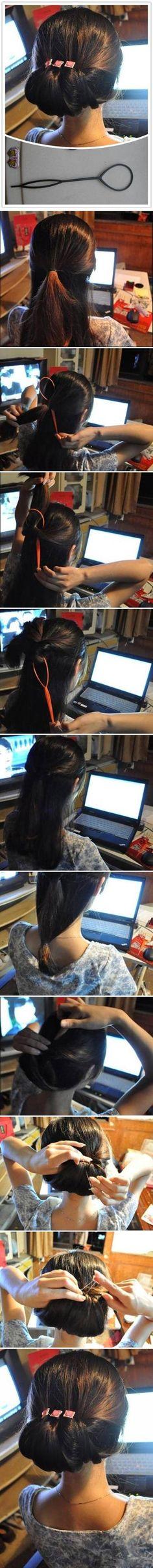 DIY 4 Loop Hair Hairstyles