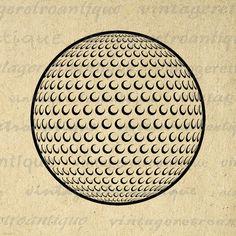 Golf Ball Graphic Printable Image Digital Golfing Download Artwork Vintage Clip Art Jpg Png Eps 18x18 HQ 300dpi No.4020 @ vintageretroantique.etsy.com #DigitalArt #Printable #Art #VintageRetroAntique #Digital #Clipart #Download