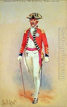 Charles MacKubin Lefferts:Sir William Howe Commander in Chief of the British Army 1776-78 in full dress dismounted