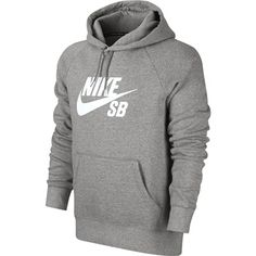 low priced 17b8d 927ad Nike Skateboarding Icon Hoodie Sweater in Grey