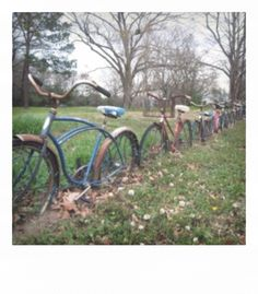fence from old bikes lol might work at the lake and free up space in garage