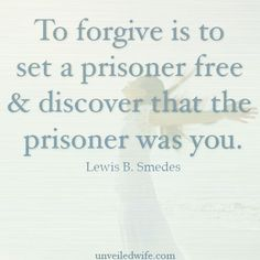 Freedom Through Forgiveness --- Evelyn Jansen wrote this personal article that reveals how she found freedom through forgiveness! Not just in forgiving her husband, but also her parents. So many times we build walls to try and protect ourselves from being hurt [...]… Read More Here http://unveiledwife.com/freedom-through-forgiveness/ #marriage #love