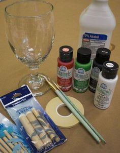 How to paint glass...I've painted wine glasses before, but these tips make it even easier! .