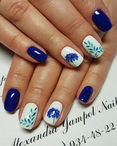 Top 50 Inspirational Blue Nail Art Designs and Ideas For 2018