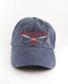 ef5545350f8e8 New Port Rhode Island Oars Dad Hat    RI Est. 1639 Baseball Cap with Adjustable  Strapback    Blue Bite Me Live Bait Cap